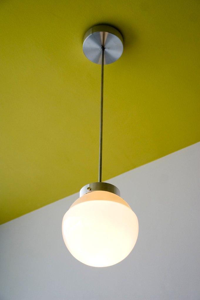 Bauhaus building - Ceiling lamp HMB 29 by Marianne Brandt (1928/29)