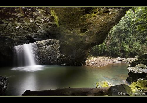 canon eos waterfall rainforest rocks australia wideangle naturalbridge queensland aussie aus 1020mm springbrook goldcoasthinterland naturalarch sigmalens springbrooknationalpark eos450d 450d colorphotoaward bestofaustralia sorenmartensen