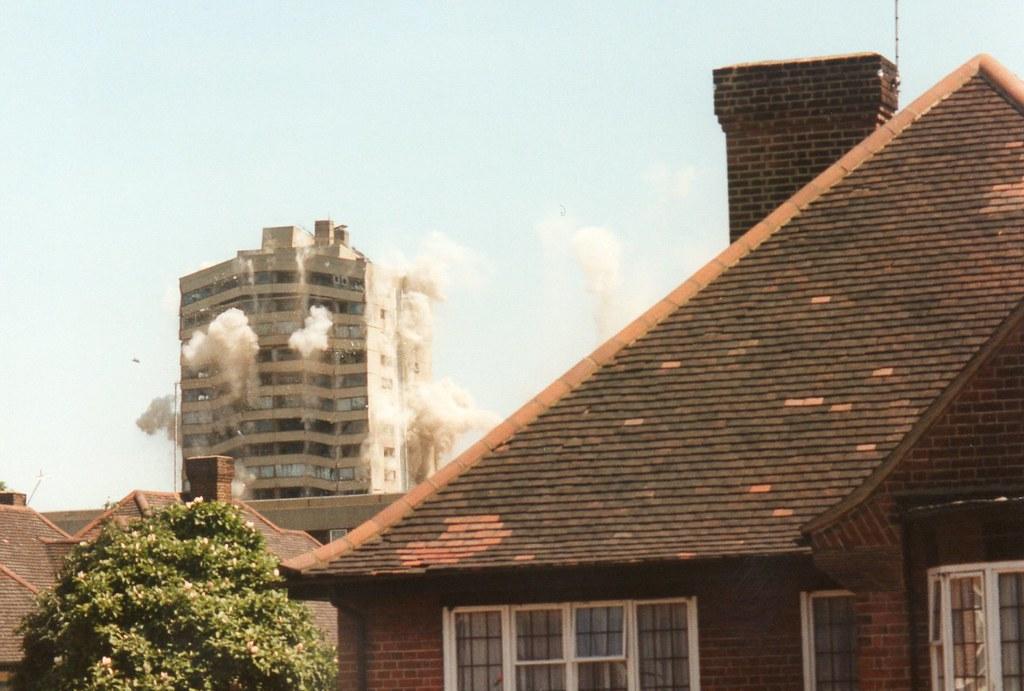 Demolition Kingshold Estate July 1995
