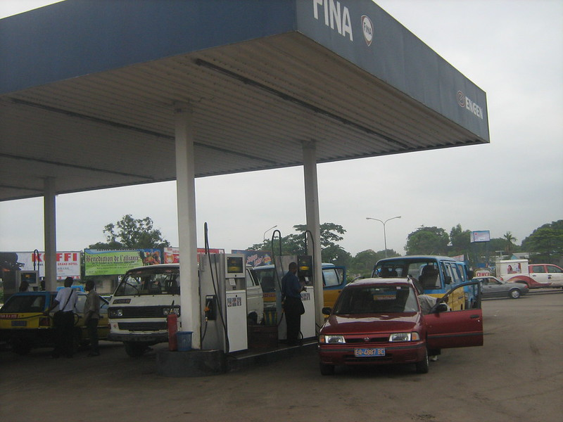Station carburant à Kinshasa