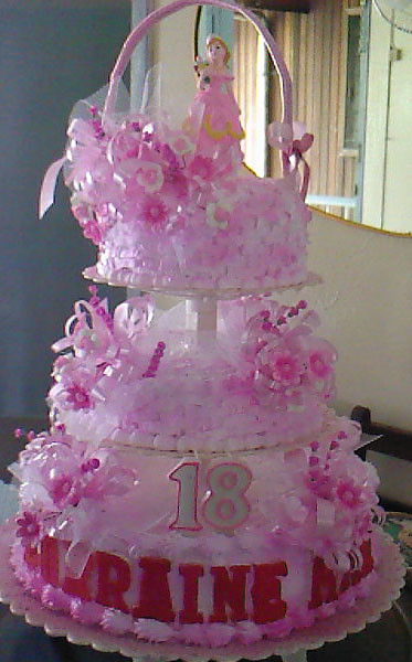 Debut Cake 3 Layer Cakes W Pink Designed April Miscala Flickr