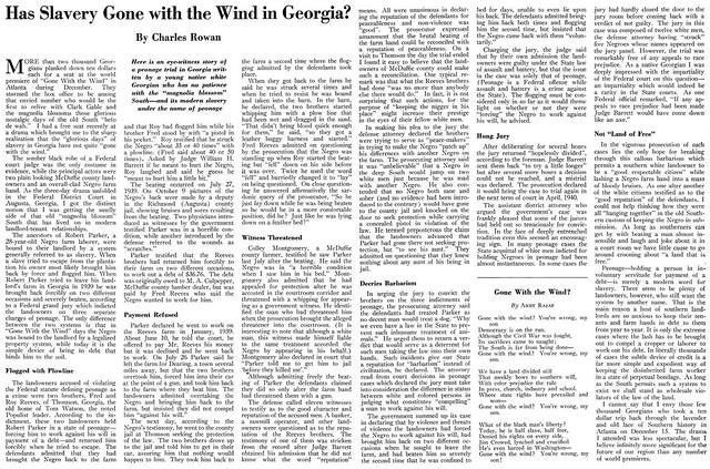 A Federal Case of Slavery of a Black Man in 1939 Georgia - Crisis Magazine, February, 1940