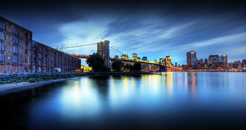nyc newyorkcity skyline dumbo brooklynbridge eastriver hdr lowermanhattan downtownmanhattan empirefultonpark tultonferry tonyshi