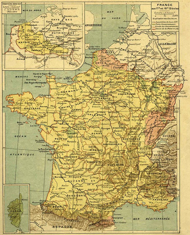 Carte de France (17è et 18ème siècle)