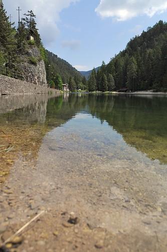 panorama mountain lake landscape lago val di trento non emerald fondo paesaggio trentino smeraldo doublyniceshot