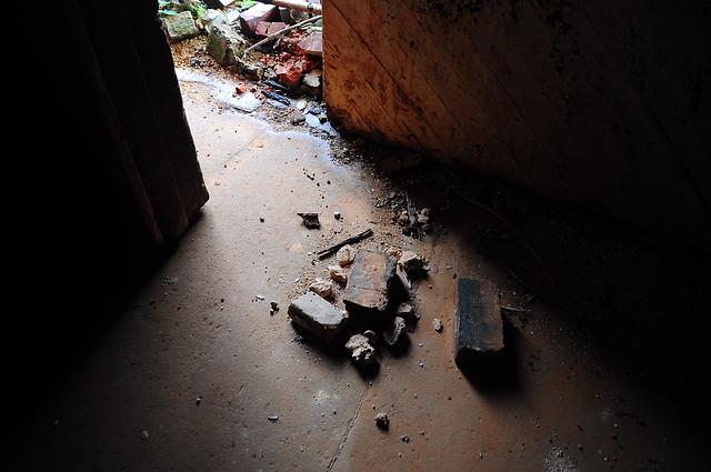 Bricks on the Floor, in the Door - h531