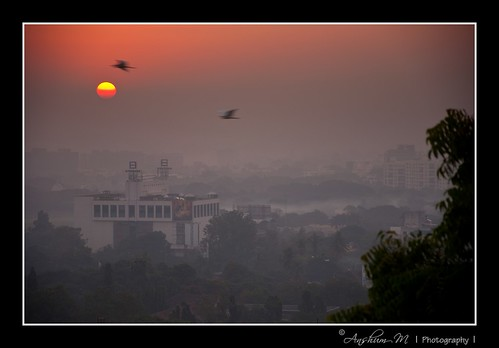 sun sunrise landscape dawn nikon scene d90 chaturshringi nikond90 18105vr anshummandore anshumm