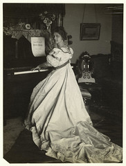 [Woman playing the piano.] | by New York Public Library