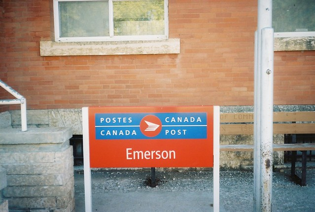 Emerson, Manitoba Post Office Sign
