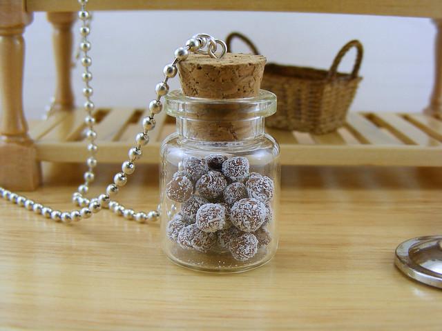 Coconut-Chocolate Truffles Necklace