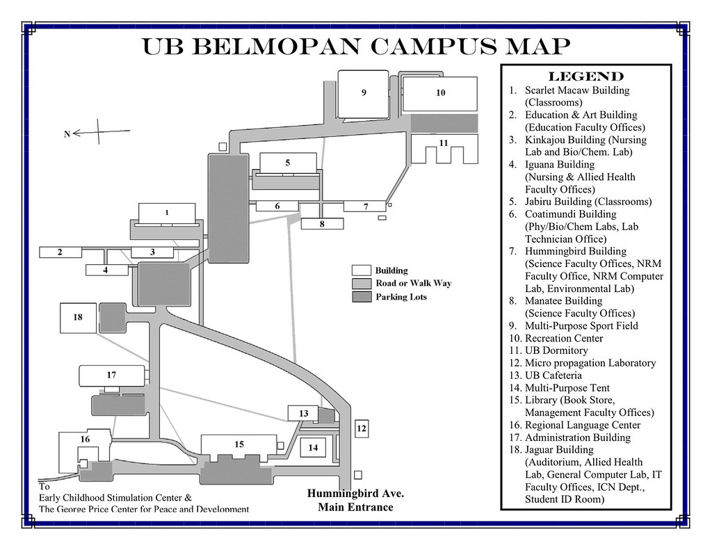 UB Belmopan Campus Map   Venue for the Responsible Tourism C ... on ralph wilson stadium parking map, wn map, north court university of richmond map, la map, bflo univ campus map, mdc north map, buff state map, mc map, uk map, south campus map,