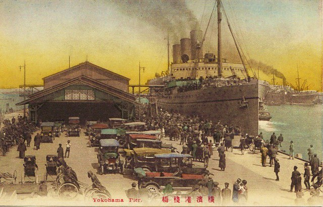 Yokohama- Pier- vintage postcard- 18-12-2009 21;03;11