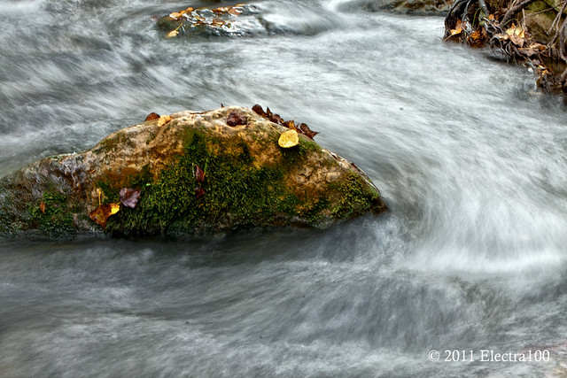 Río de aguas bravias.
