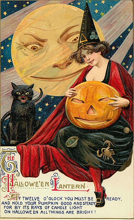 Vintage Halloween Postcards Free To Use In Your Art Only, … Flickr