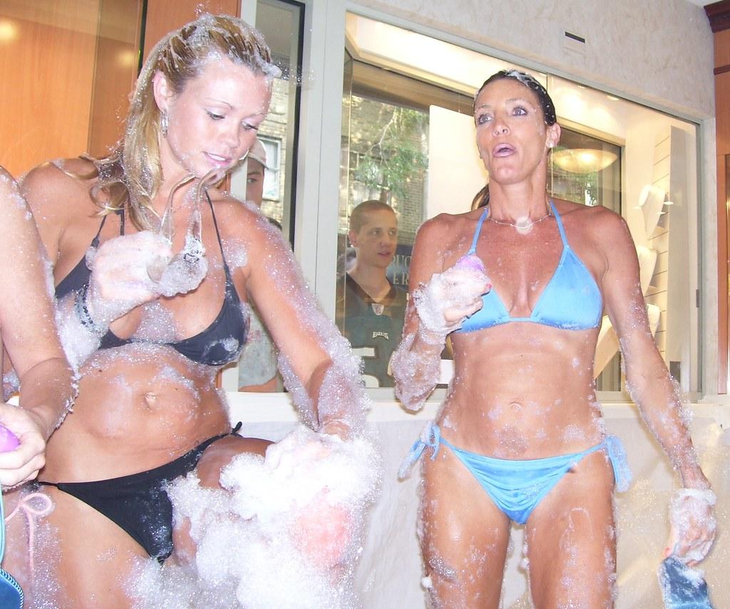 Bubble bath bikini those