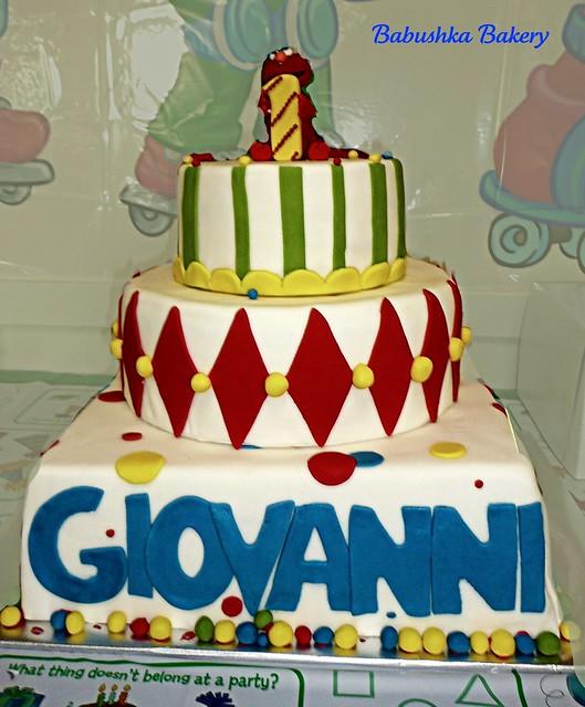 Elmo 3 tiered cake