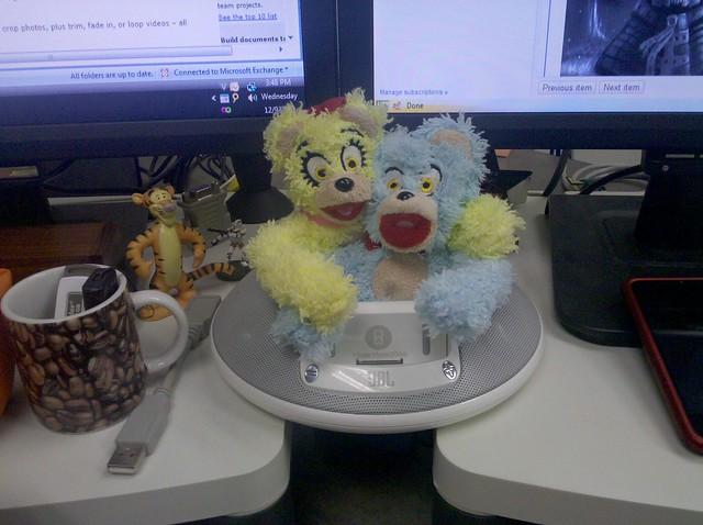 I have bad idea bears on my desk!