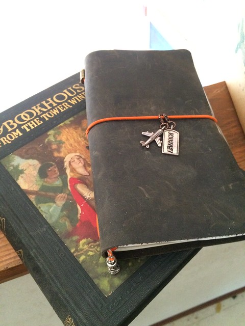 Traveler's notebook and old book