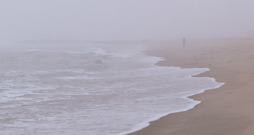 jersey morning surf beach ocean minimalism loneliness asburypark nj lonely sky fog landscape water sand shore newjersey unitedstates us