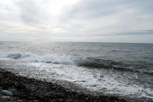 sky beach rocks waves capebreton cabottrail noviascotia