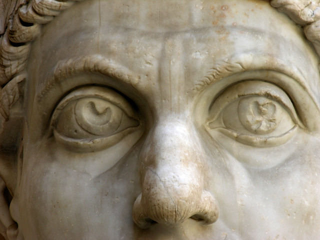 Constantine's colossal eyes