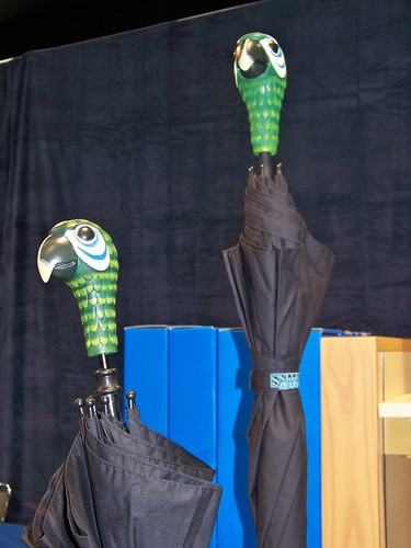 Awesome Mary Poppins parrot umbrellas seen in the D23 Expo Dream Store | by Castles, Capes & Clones