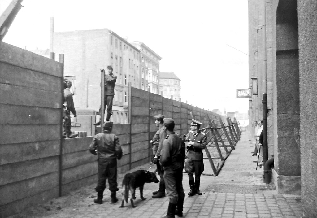 Mauerbau / Building of the Berlin Wall through 'National Peoples Army' of GDR