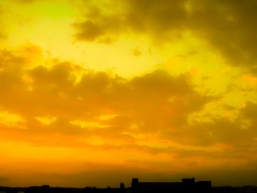 天空 雲彩 sky cloud 日出 日落 sunrise sunset 太陽 sun 夕陽 晚霞 sony cybershot hx1 朝霞