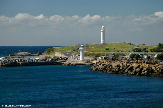 Wollongong Harbour and Flagstaff Hill Lighthouses - Wollongong, NSW. Australia