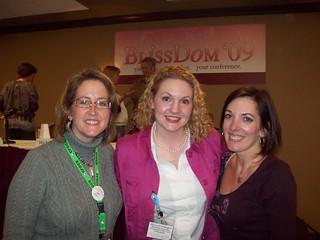 Sarah, Alli, Jo-Lynne at Blissdom 2009