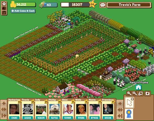 Farmville on Facebook: Travis' Farm (Level 25) / 2009-11-0