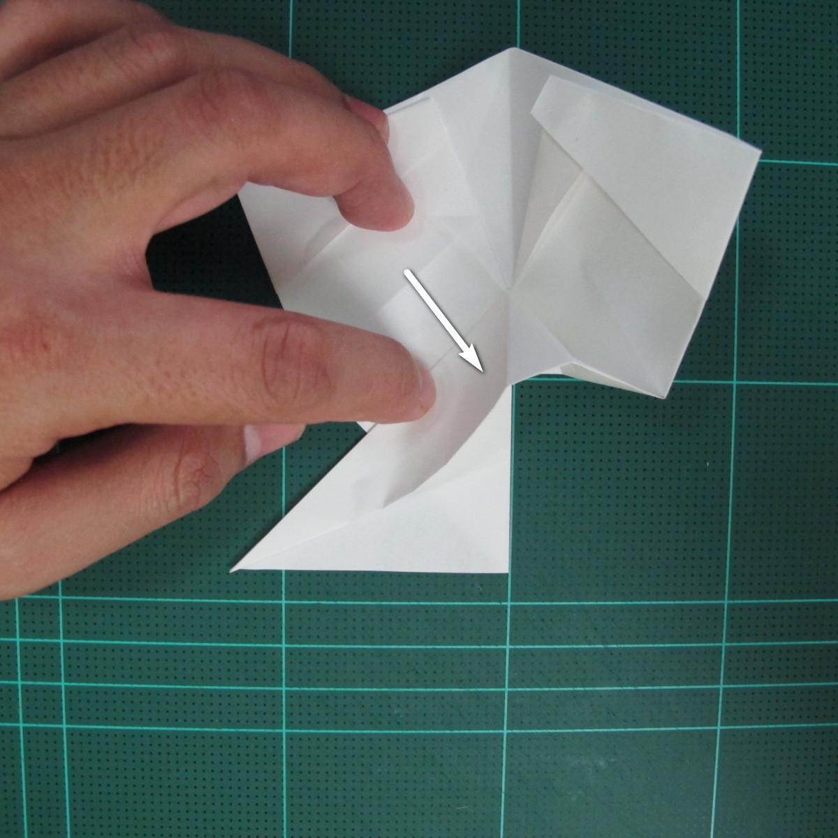 วิธีพับกระดาษเป็นรูปปลาแซลม่อน (Origami Salmon) 027