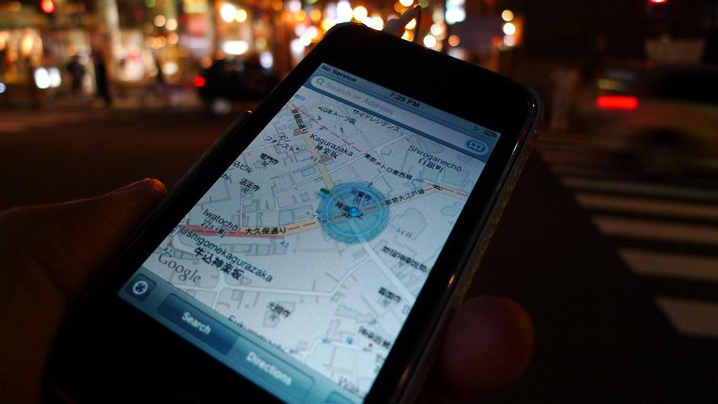 P1000990 iPhone offline Tokyo maps