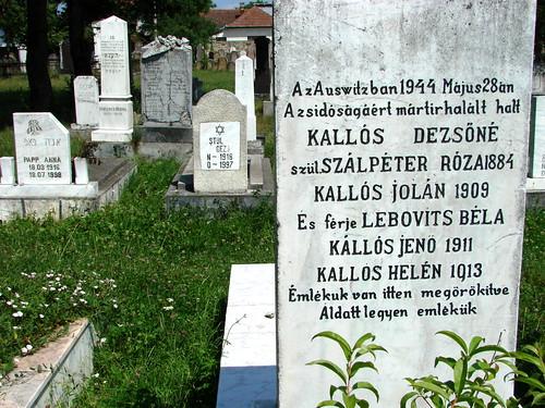Gravestone for Auschwitz Victims - Sighet - Romania
