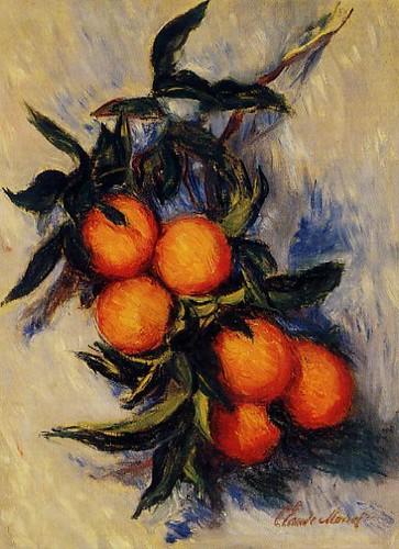 W 887 - Claude Monet: Oranges on a branch (1884)