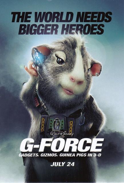 Disney G-Force Movie Postcard