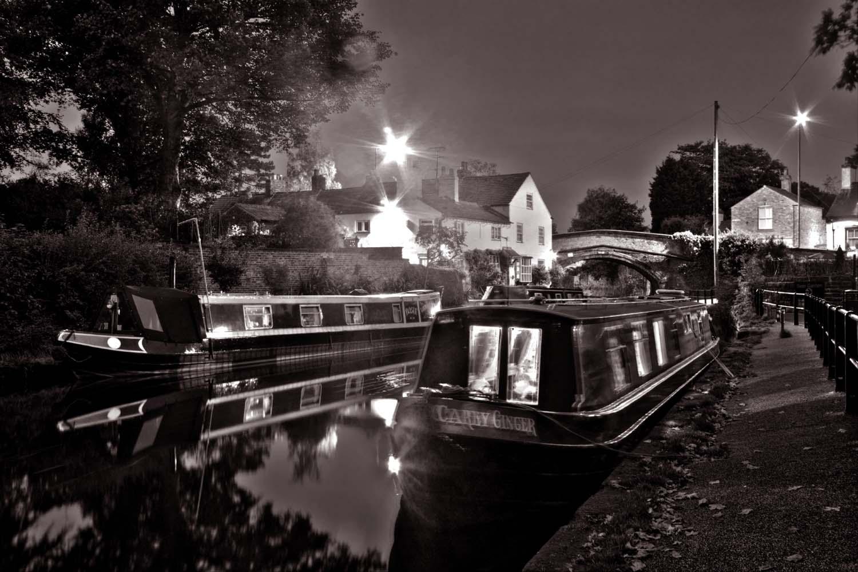 Lymm,Canal,Bridgewater,Cheshire,Village,Warrington,water,Dusk,Night,Shot,nightshot,tripod,street,lights,tripod shot,long,exposure,long exposure,tonysmith,tony,smith,tdktony,hotpix,hotpixuk,lymmvillage,england,UK,GB,A56,(tdk),365days,B/W,black,white,mono,monochrome,HDR,high dynamic range,noche,nuit