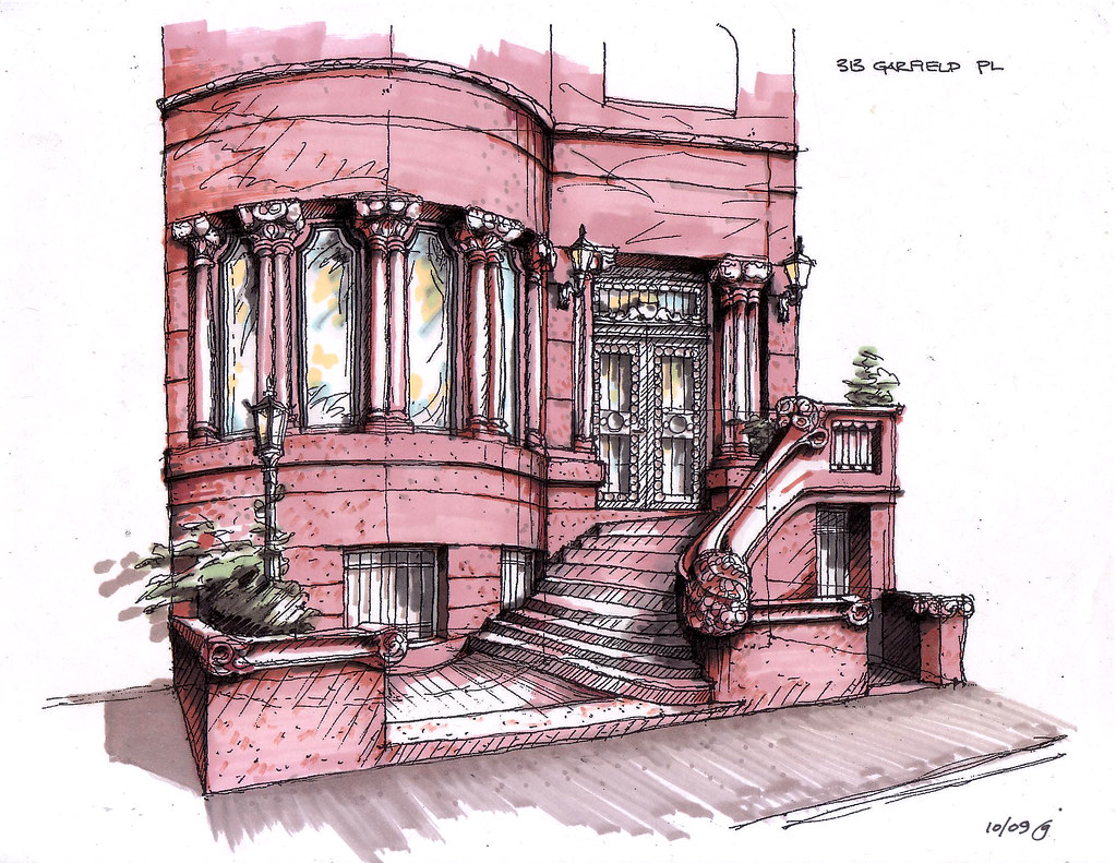 313 Garfield Place Color Marker Rendered Version Of Origin Flickr
