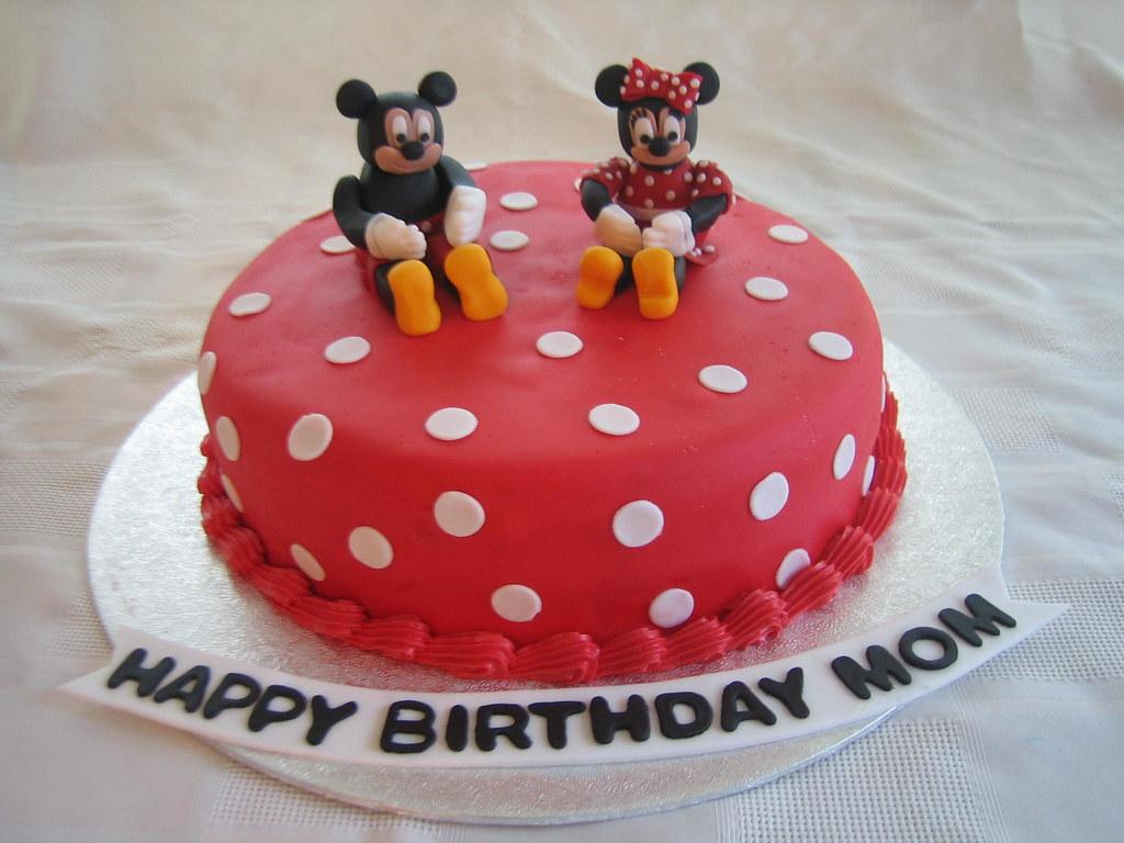 Incredible Mickey Minnie Birthday Cake Mickey Minnie Birthday Cak Flickr Funny Birthday Cards Online Overcheapnameinfo