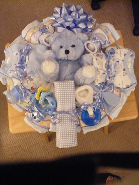 Diaper wreath (Baby Boy)