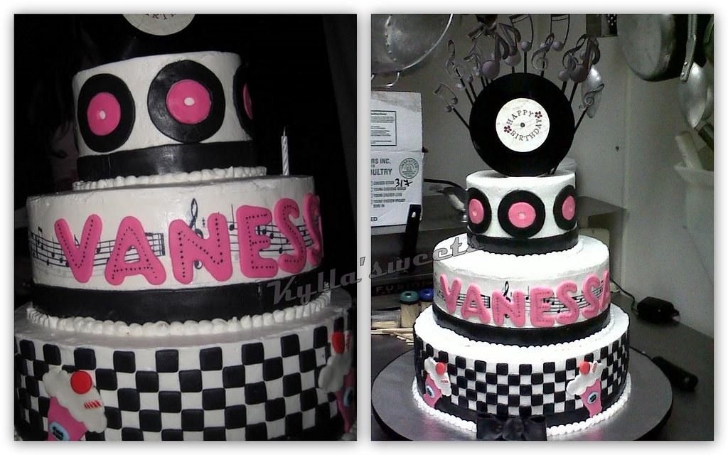 Fine 50S Themed Birthday Cake Buttercream Mmf Details Flickr Funny Birthday Cards Online Necthendildamsfinfo