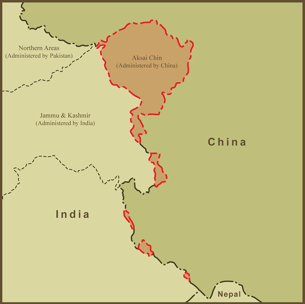 A Map of Aksai Chin and the Border Dispute Between China a ...