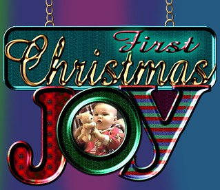First Christmas Joy! Ornament Design for Personal Use