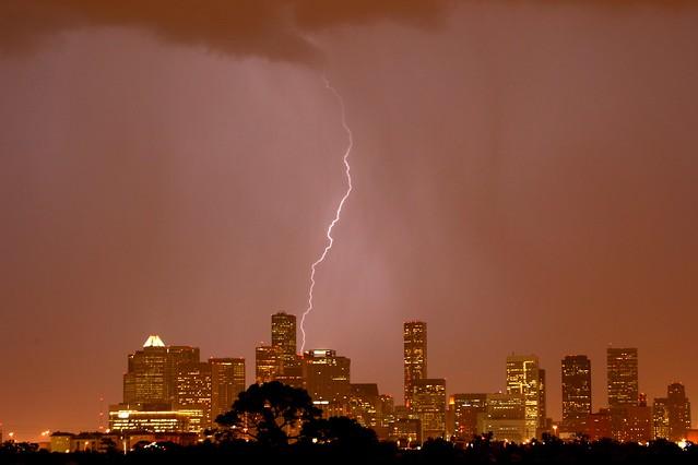 Lightning over H-Town