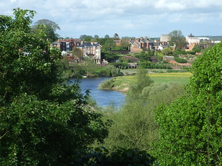 River Severn from the garden of The Mount, Shrewsbury - 9 May 2009