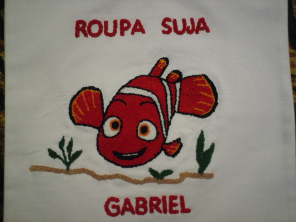 Turma Do Nemo Em Ponto Russo Desenho Bordado Em Saquinho D Flickr