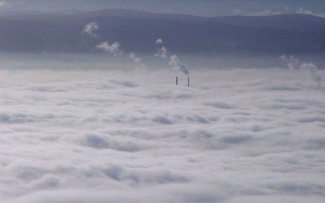 A Foggy Day In Dublin Town: the view from Aer Lingus EI 157