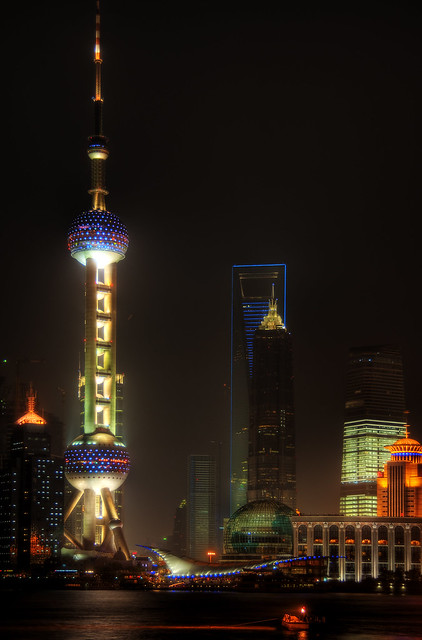 Pudong towers night view