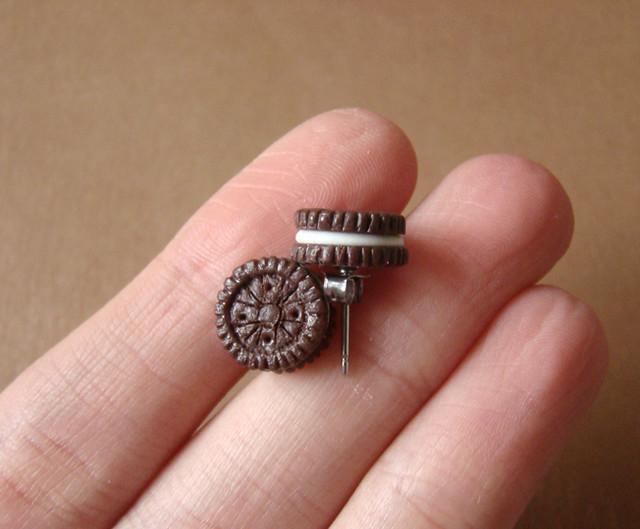 Miniature Oreo Cookies Earrings