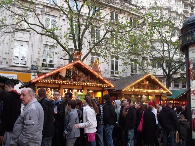 Birmingham Frankfurt Christmas Market on New Street in Birmingham - Market stalls